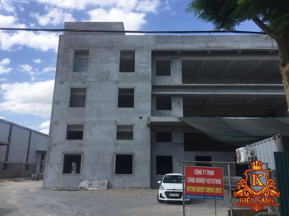 Tiến độ xây dựng nhà điều hành khu công nghiệp Keystone tại Hà Nam