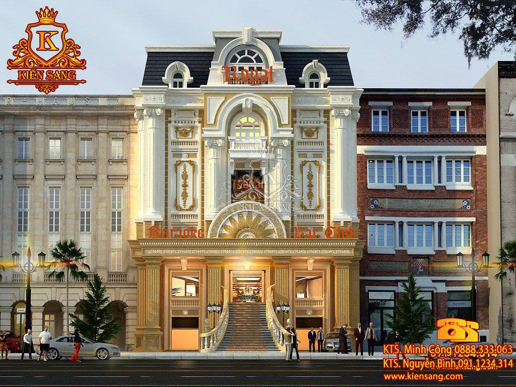 Siêu dự án Nhà phố 5 tầng cổ điển tại Đà Nẵng - kiensang.com