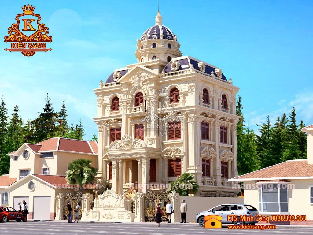 Mẫu biệt thự 4 tầng kiểu Pháp đẹp tại Đà Nẵng