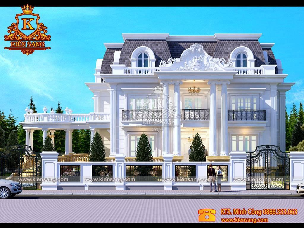 Mẫu biệt thự 3 tầng tân cổ điển đẹp tại Ninh Bình