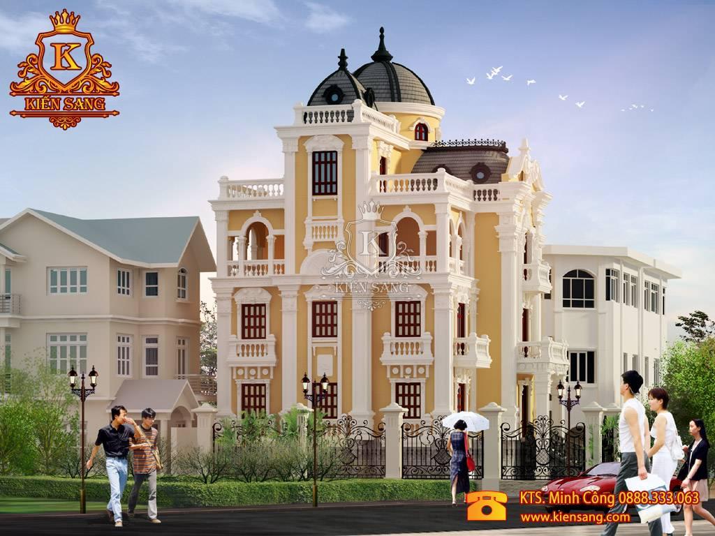 Siêu đẹp mẫu biệt thự 4 tầng kiểu Pháp tại Bắc Ninh