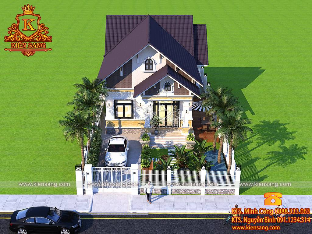 Mẫu nhà cấp 4 mái thái đẹp 4 phòng ngủ nhà a Vũ tại Đồng Tháp