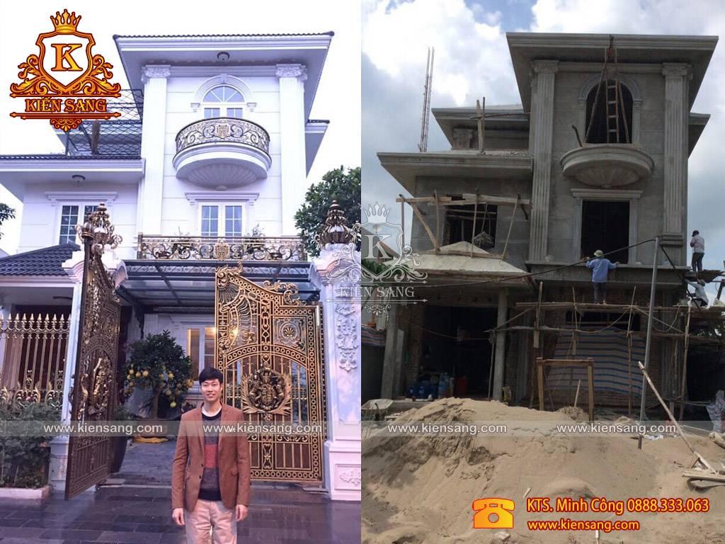 Hoàn thiện mẫu biệt thự 3 tầng tân cổ điển tại Bắc Ninh
