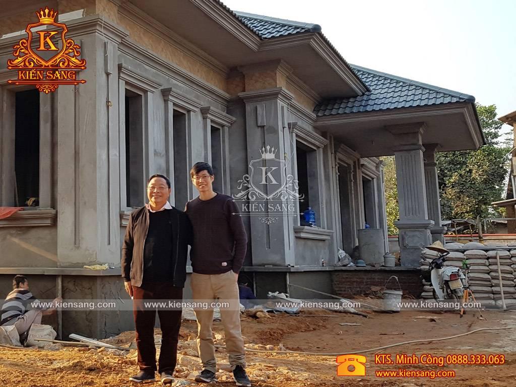 Thi công trọn gói mẫu biệt thự 1 tầng tại Yên Bái