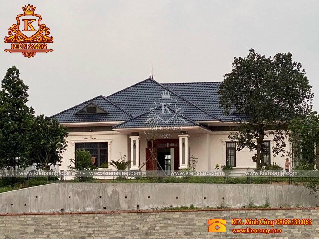 Thi công trọn gói biệt thự 1 tầng 4 phòng ngủ tại Thái Nguyên