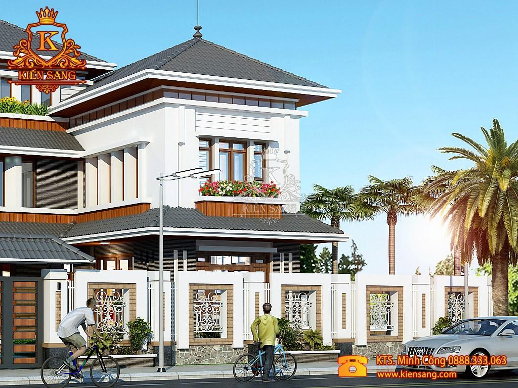 Biệt thự 3 tầng tân cổ điển mái Thái