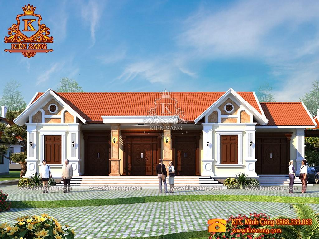Biệt thự 1 tầng tân cổ điển tại Lạng Giang