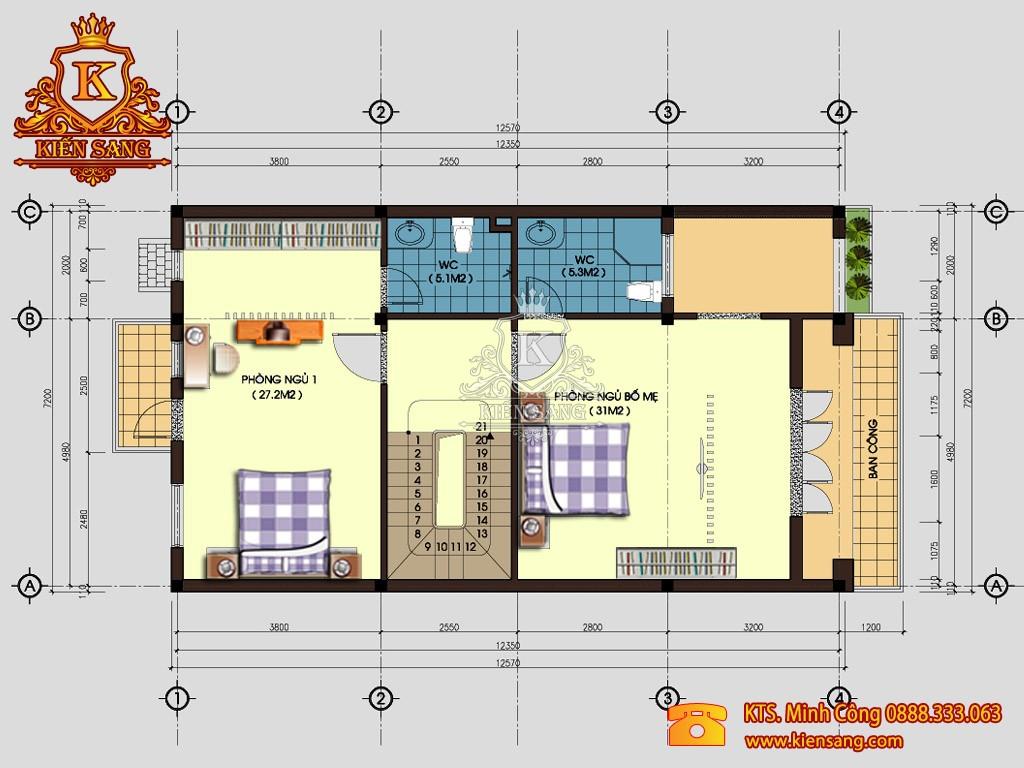 Biệt thự 3 tầng tân cổ điển tại Long Biên
