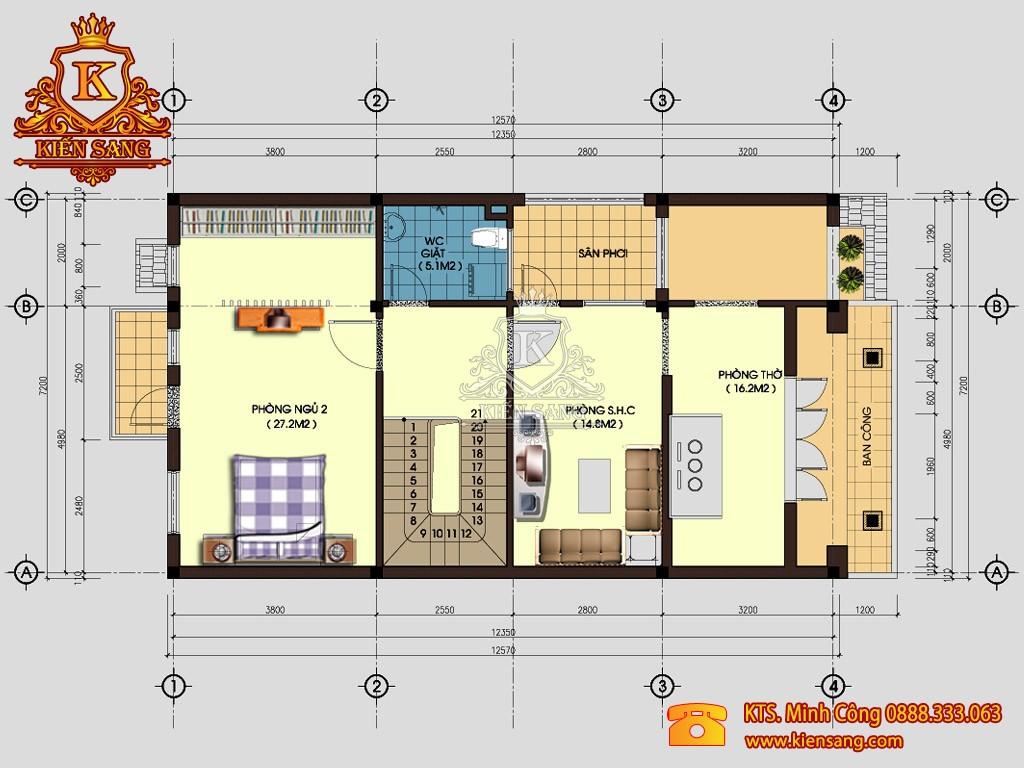 Biệt thự 3 tầng 80m2