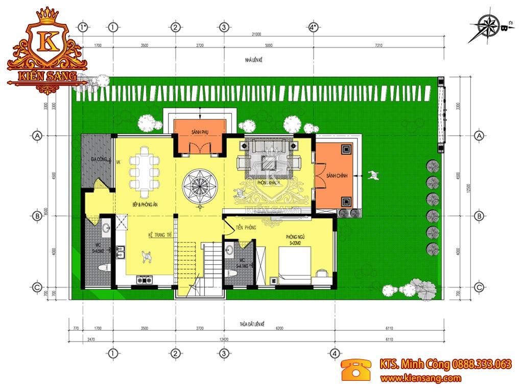 Biệt thự 2 tầng tân cổ điển tại Gia Lâm