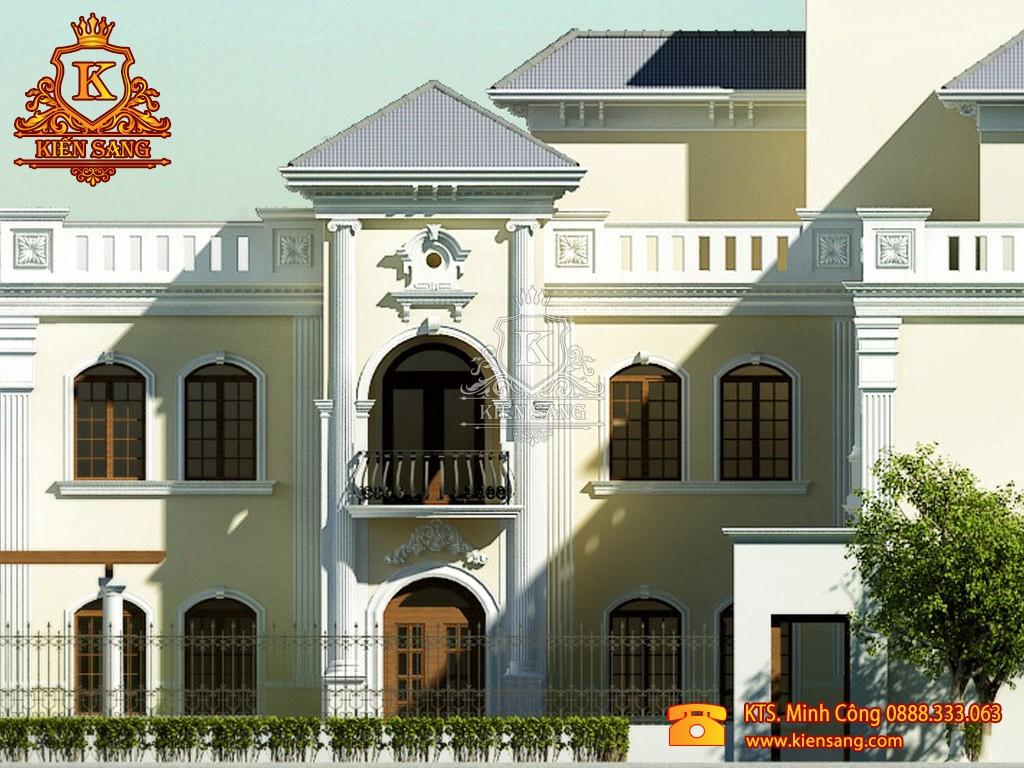Biệt thự 2 tầng cổ điển 1 mặt tiền