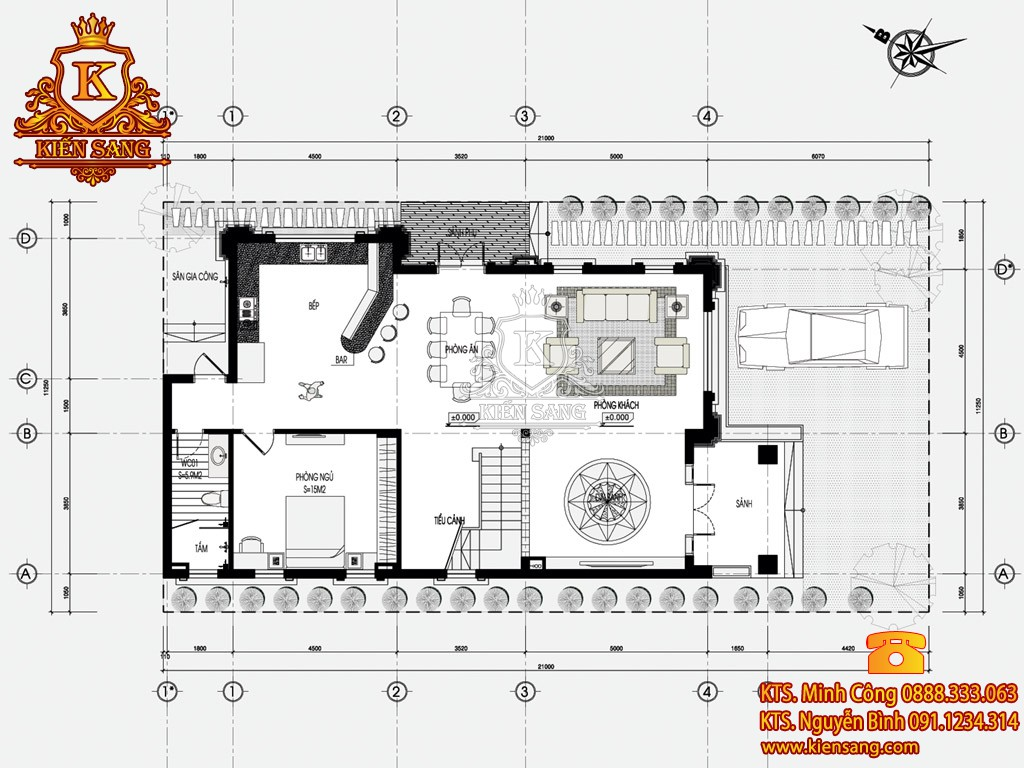 Biệt thự 3 tầng tân cổ điển tại Gia Lâm
