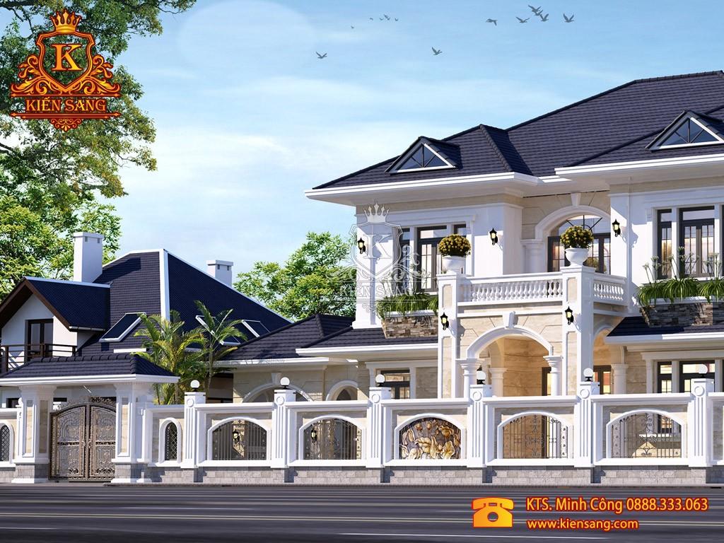 Công trình biệt thự 2 tầng tân cổ điển đẹp như mơ tại Bắc Ninh