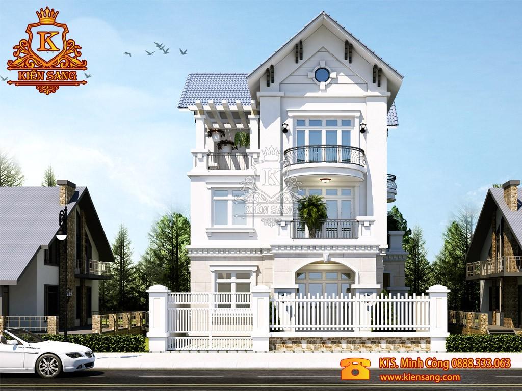 Thiết kế biệt thự tân cổ điển tại Vĩnh Long