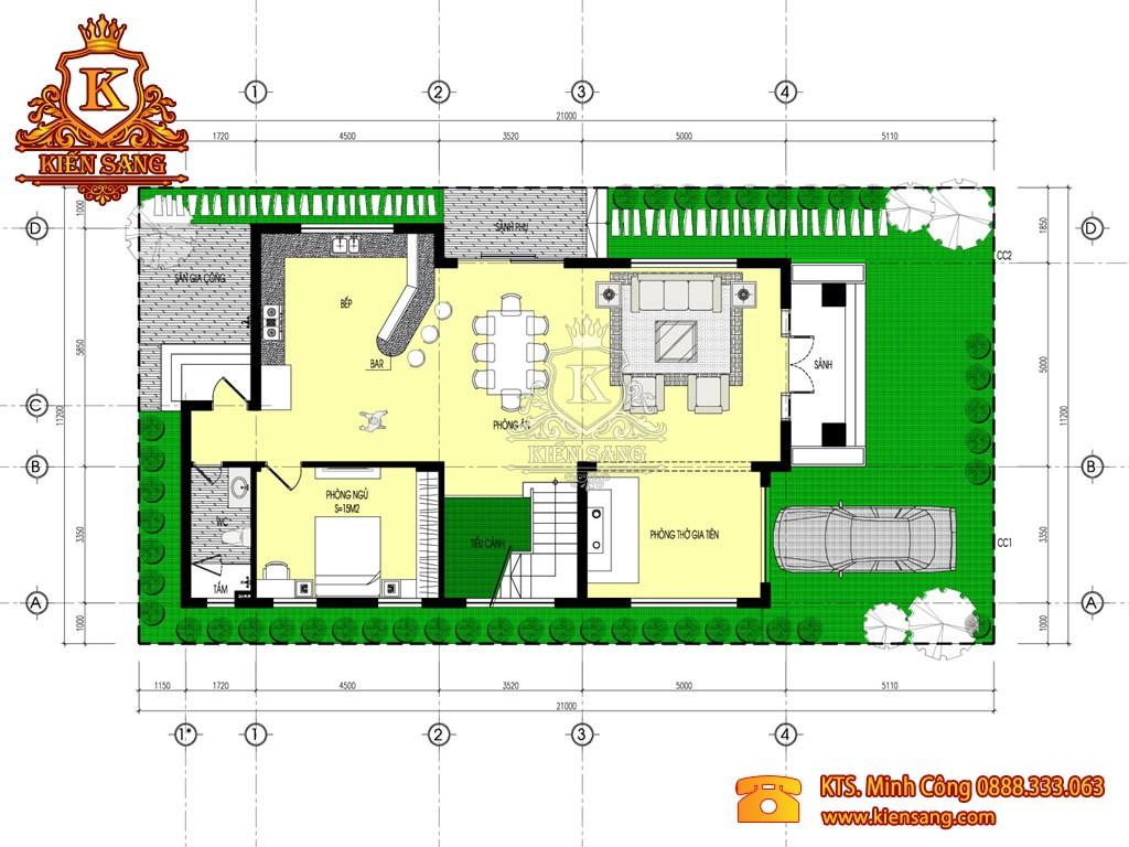 Biệt thự 3 tầng tân cổ điển tại Sơn Tây