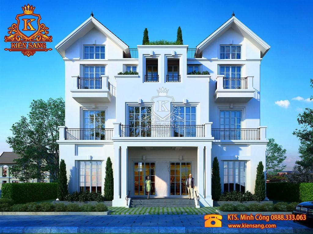 Thiết kế biệt thự tân cổ điển tại Bình Thuận