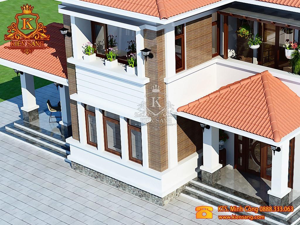 Biệt thự 2 tầng hiện đại nhà vườn