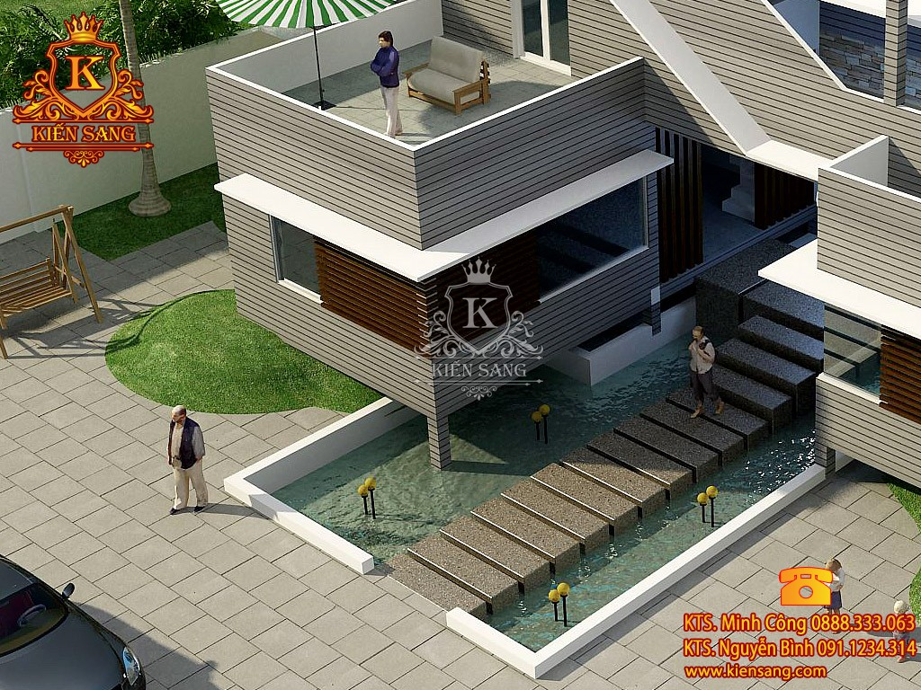 Biệt thự 2 tầng hiện đại tại Thanh Xuân