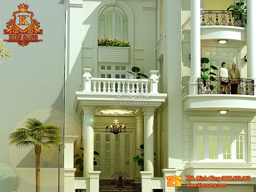 Biệt thự 4 tầng tân cổ điển 1 mặt tiền