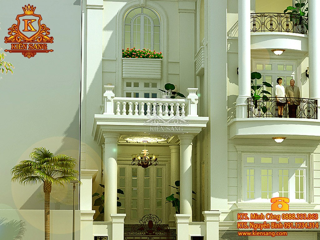 Biệt thự 5 tầng cổ điển tại Từ Sơn