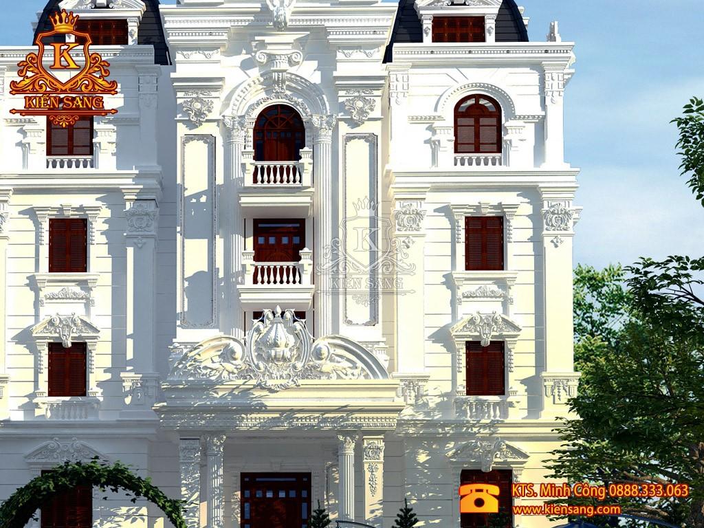 Biệt thự 4 tầng cổ điển tại Vĩnh Phúc