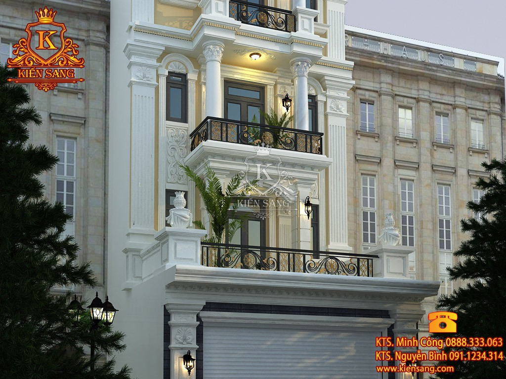 Khách sạn 4 tầng tân cổ điển 1 mặt tiền
