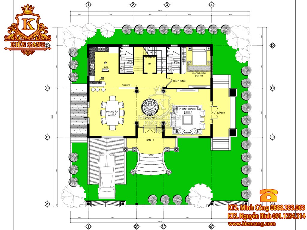 Biệt thự 3 tầng cổ điển tại Đà Nẵng