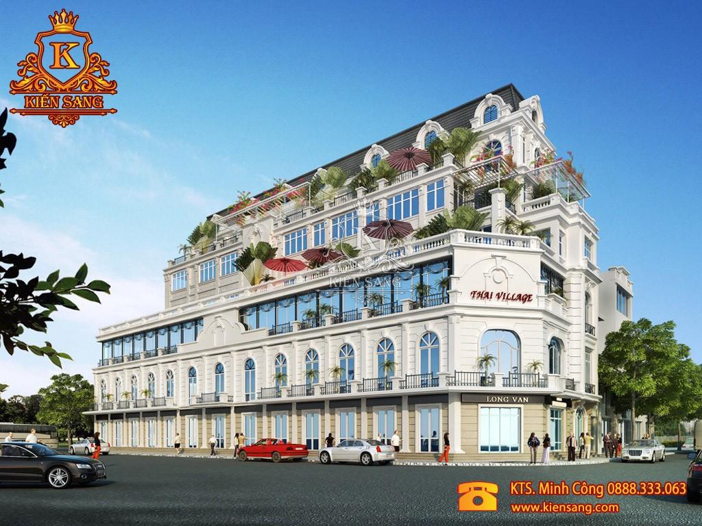 Khách sạn 4 tầng tân cổ điển 2 mặt tiền