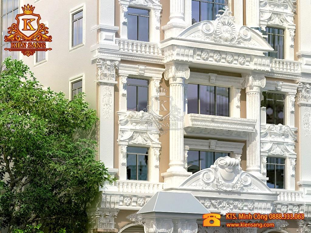 Khách sạn 5 tầng cổ điển 1 mặt tiền