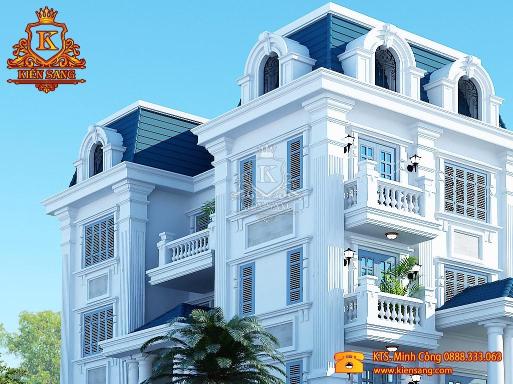 Biệt thự 5 tầng cổ điển tại 2 mặt tiền