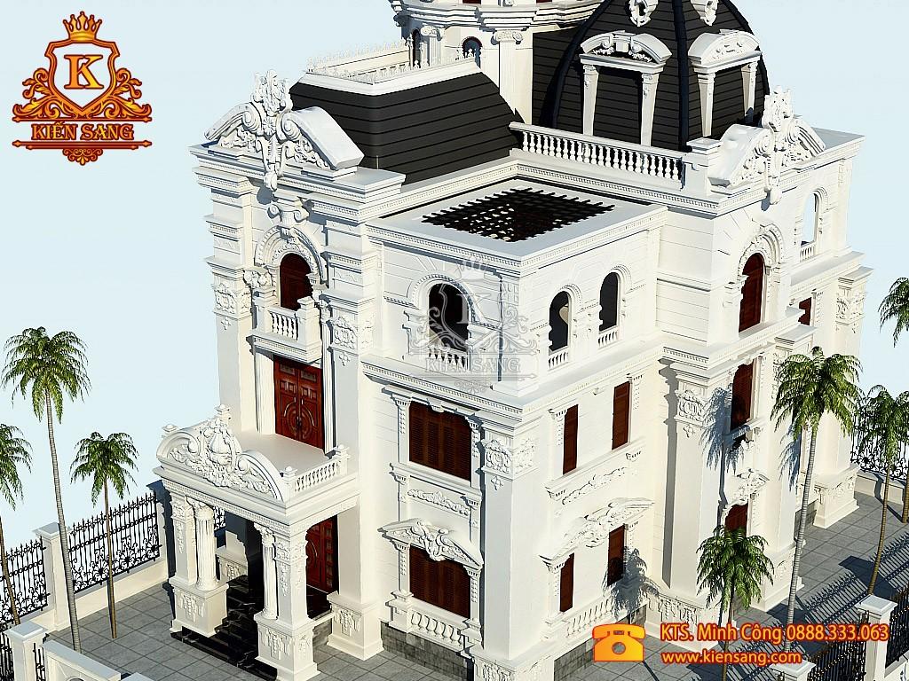 Biệt thự 4 tầng cổ điển tại Long Biên