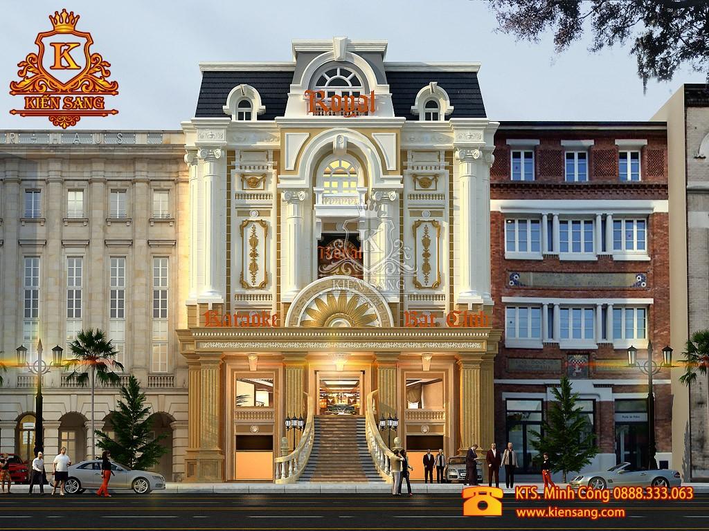 Thiết kế biệt thự 5 tầng cổ điển