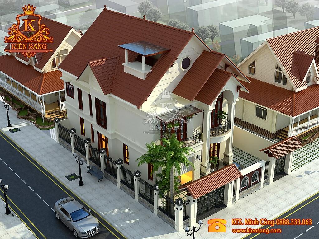 Nhà phố 2 tầng tân cổ điển tại Long Biên