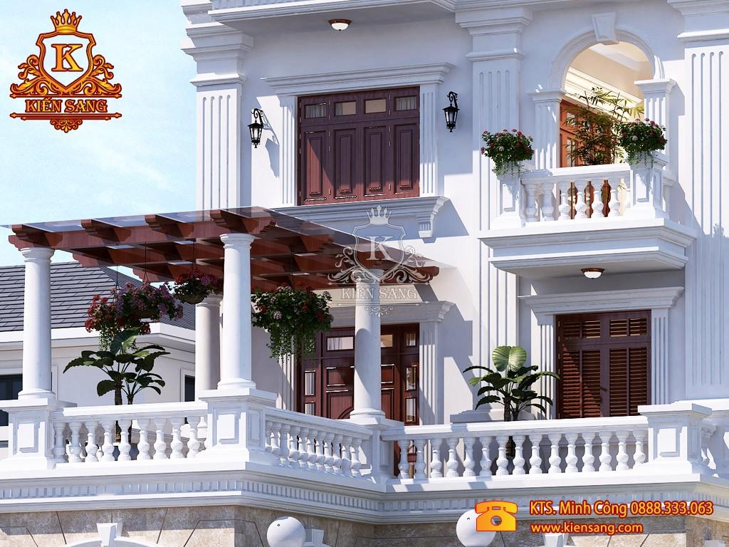 Biệt thự 3 tầng cổ điển tại Hưng Yên