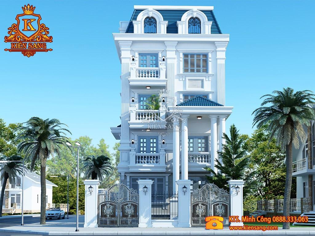 Thiết kế biệt thự tân cổ điển tại Lai Châu