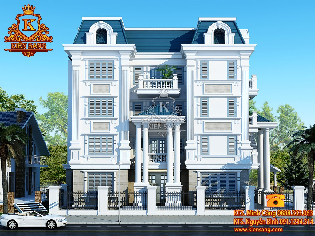 Thiết kế biệt thự tân cổ điển tại Kiên Giang