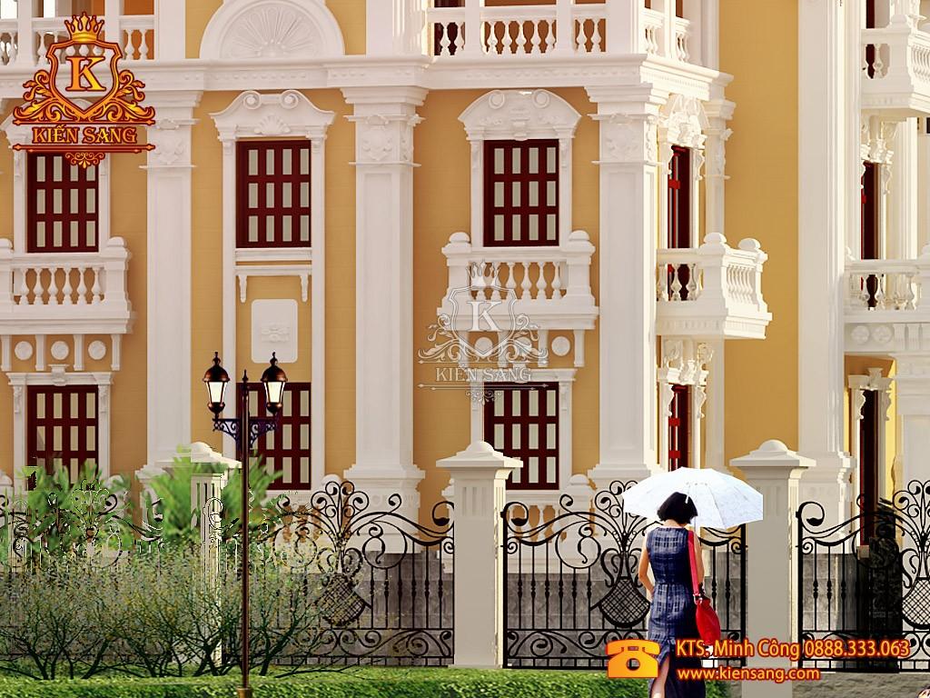 Biệt thự 4 tầng tân cổ điển tại Bắc Giang