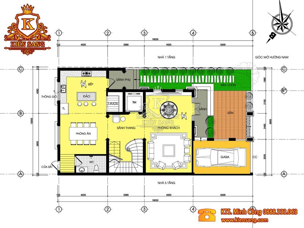 Mẫu thiết kế biệt thự 3 tầng 130m2