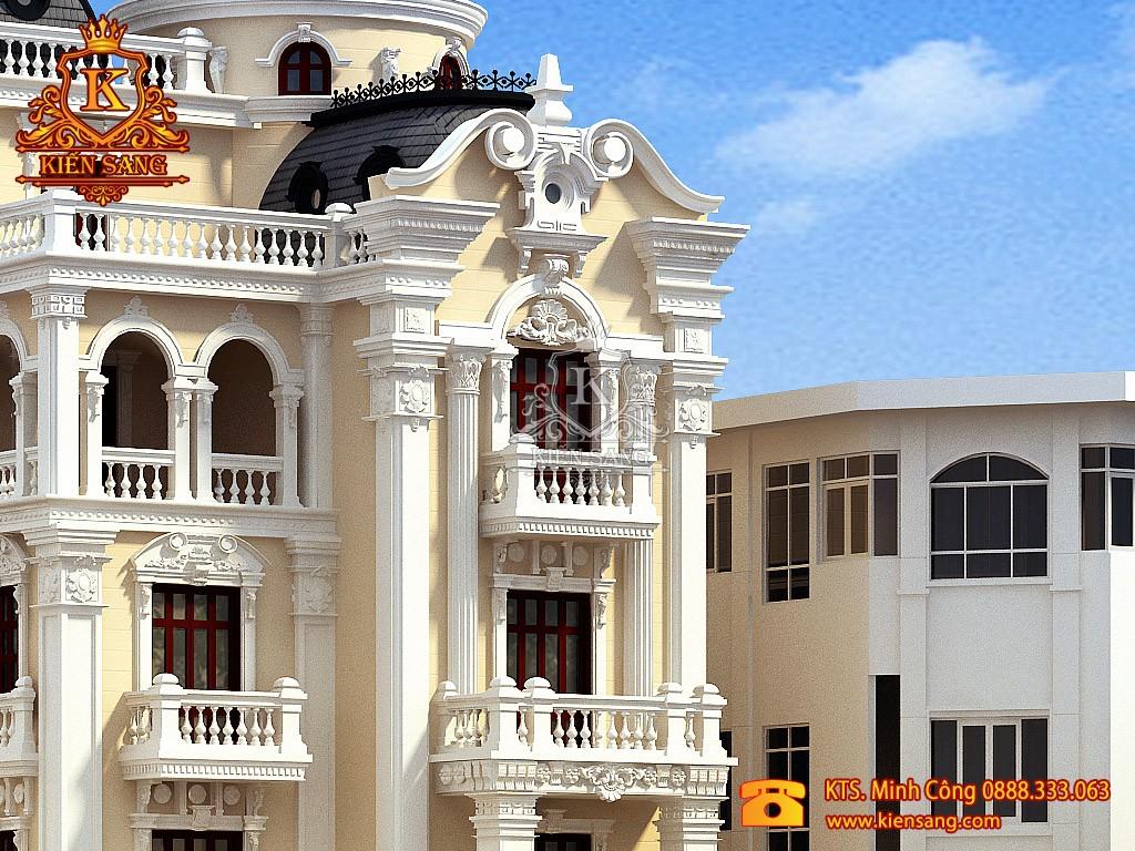 Biệt thự 4 tầng tân cổ điển tại Hà Nội