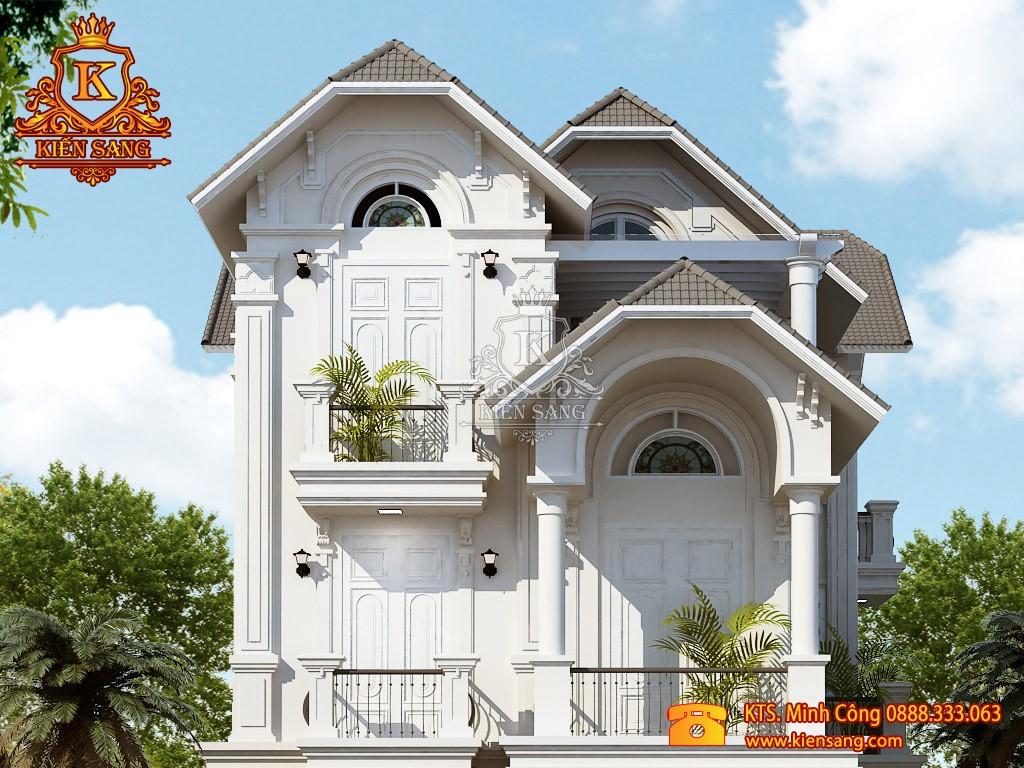 Biệt thự 3 tầng cổ điển tại Hà Nội