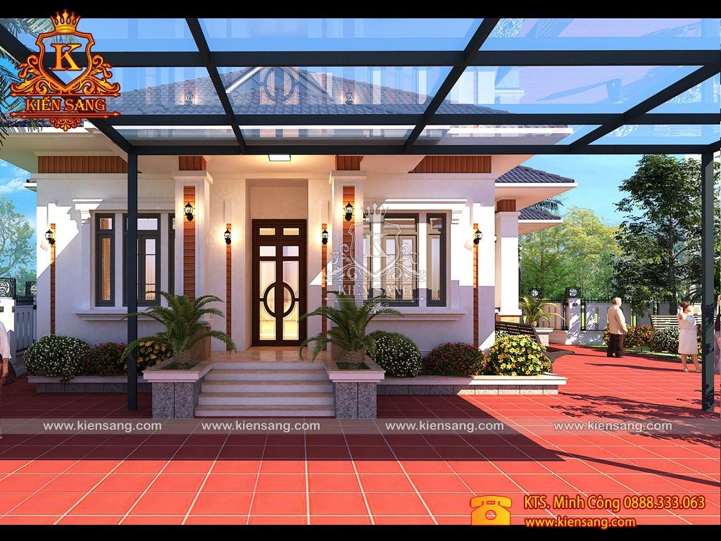 Biệt thự hiện đại 1 tầng tại huyện Cẩm Giàng