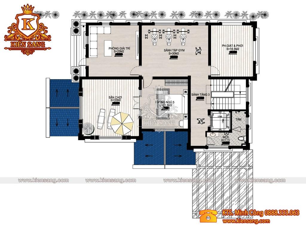 Biệt thự 3 tầng tân cổ điển 170m2