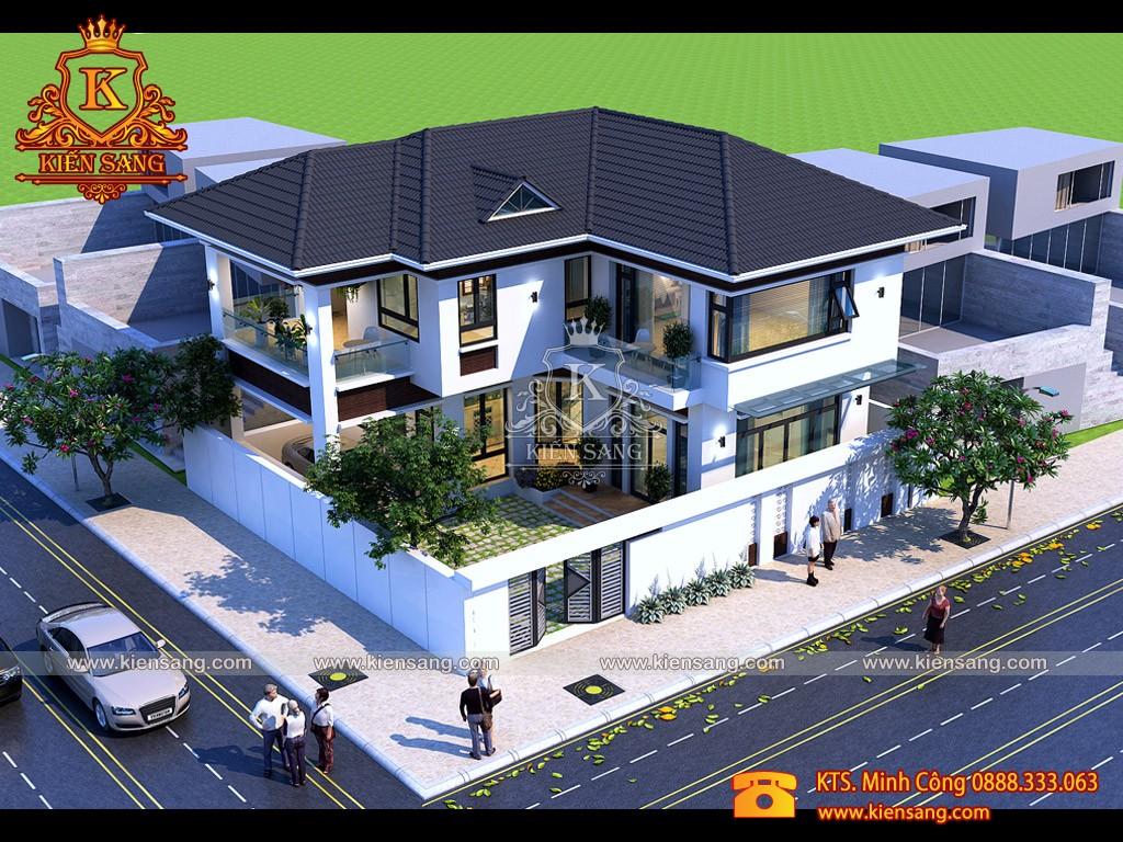 Biệt thự hiện đại 2 tầng tại Móng Cái