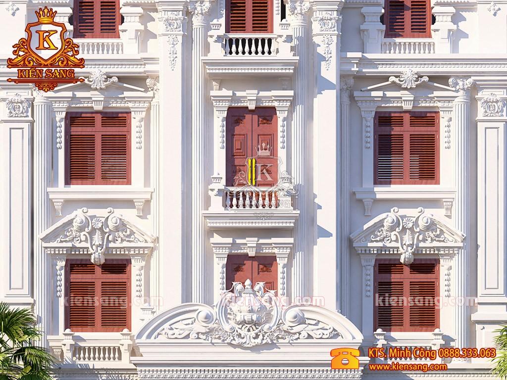 Biệt thự cổ điển 4 tầng kiểu Pháp