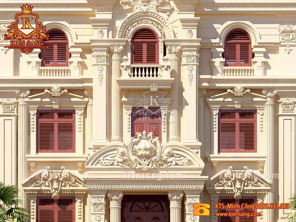 Biệt thư 4 tầng cổ điển phong cách hoàng gia