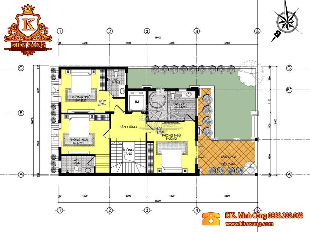 Nhà phố 3 tầng tân cổ điển tại Hoài Đức