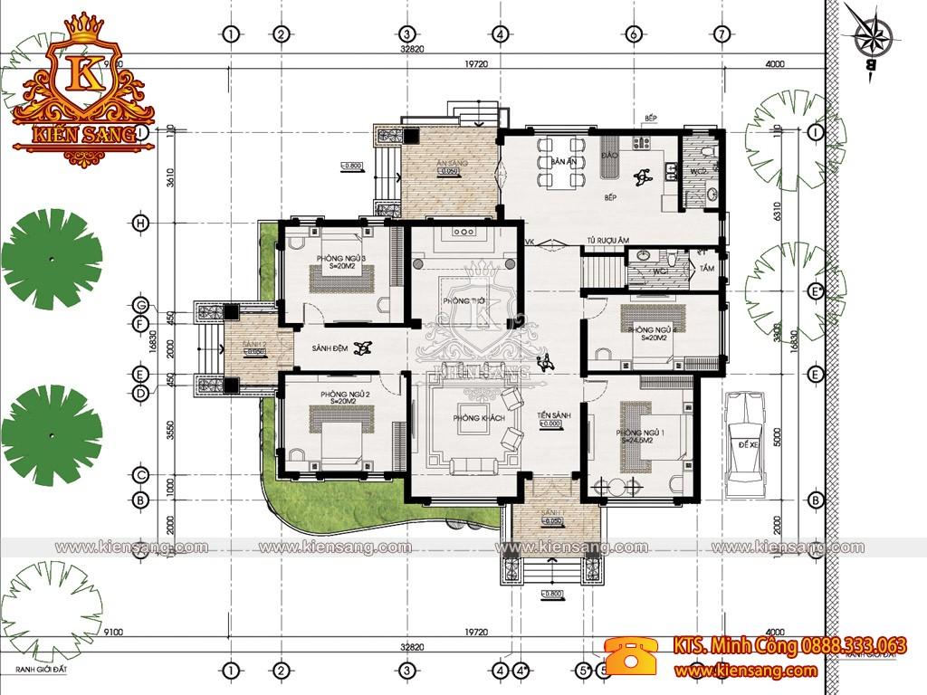 Biệt thự 1 tầng tân cổ điển 1.5 tỷ