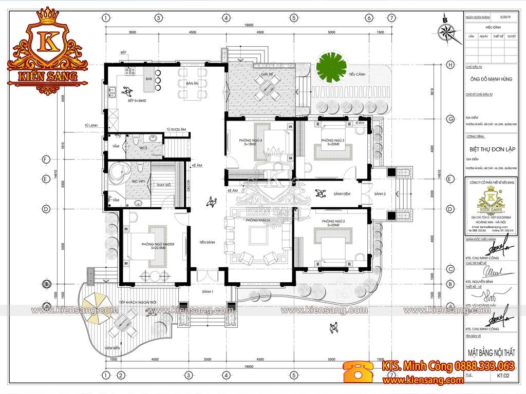 Biệt thự 1 tầng tân cổ điển tại Hạ Long