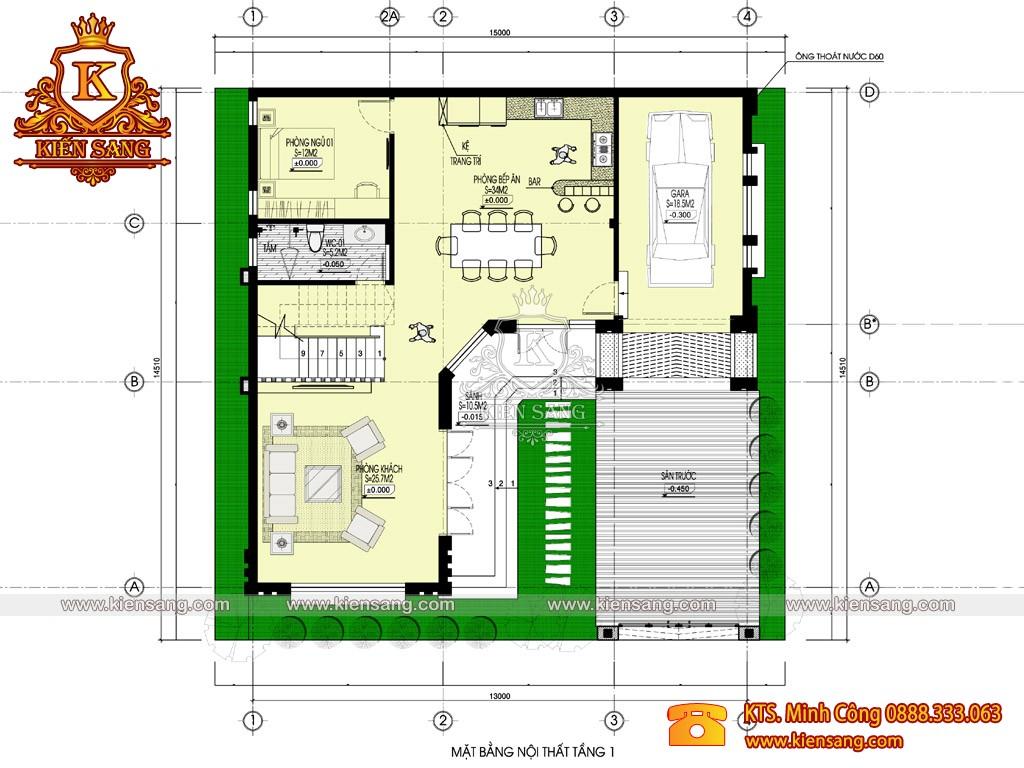 Biệt thự 2 tầng tân cổ điển 150m2
