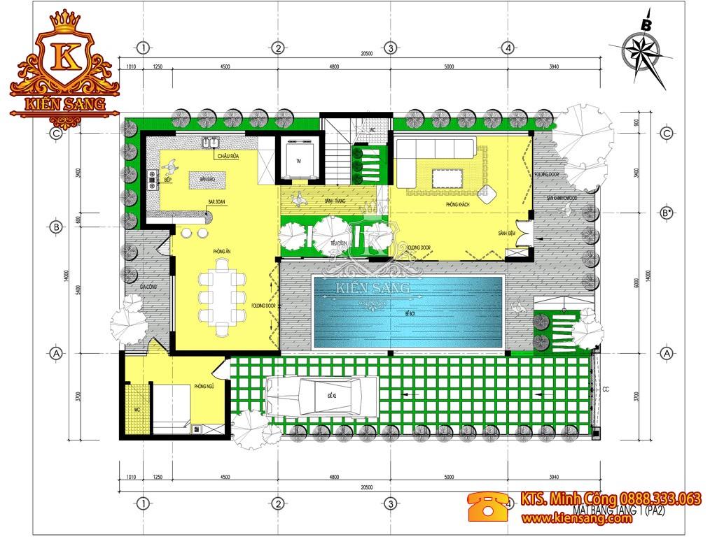 Biệt thự 3 tầng hiện đại tại Thái Nguyên
